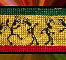 og lively reggae dancers by dedmanshootn