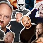 Louie CK (Collage) by Crystal Friedman