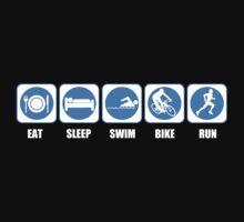 Eat Sleep Swim Bike Run Kids Clothes