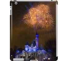 Fireworks over Sleeping Beauty Castle in Disneyland iPad Case/Skin