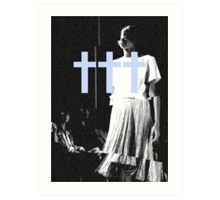 ††† (Crosses) - Blue Variant Art Print