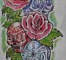 Roses and skulls. by spenardo