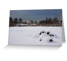 Fluffy Snowdrifts and Ominous,Threatening Skies  Greeting Card