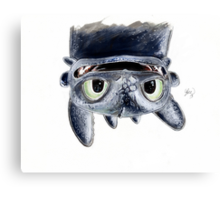 Toothless Upside Down Canvas Print