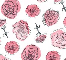 Pink Carnation Pattern by Vicky Webb
