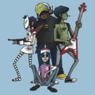 Gorillaz by The Flaming  Potato