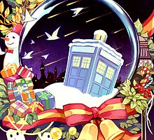 Tardis - Christmas Card by tinylittlebird
