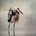 Heron in Mist by Tarrby