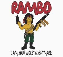 Rambo - Simpsonized by kazkami
