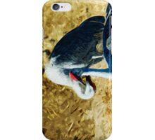 Sandhill Cranes Abstract Impressionism iPhone Case/Skin