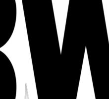 BWI Baltimore Washington International Airport Black Ink Sticker