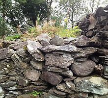 Dry Stone Wall, Gougane Barra, West Cork, Ireland by Maire Morrissey-Cummins