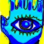 Blue Hamsa  December by Kater