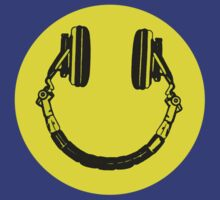 Smiley Face DJ Headphones by tshirtsfunny