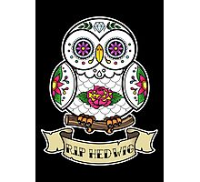 R.I.P Hedwig Sugar Skull Photographic Print