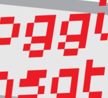 I'm a BLOGGING SENSATION! with modern computer screen Sticker