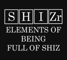 Redbubble Shizr Periodic Table Tee Black by raineOn