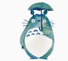 Watercolour Totoro by Bawood