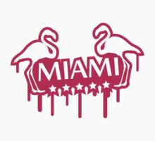 Miami Flamingo Stars Stamp by Style-O-Mat