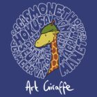 Art Giraffe- Circle of Art by Sundayink