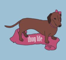 Thug Life - Vaguely Menacing Puppies with Bows #2 Kids Clothes
