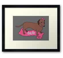 Thug Life - Vaguely Menacing Puppies with Bows #2 Framed Print