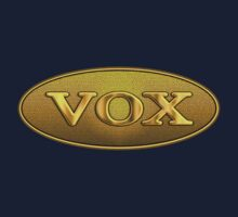 Vintage Vox Amp Gold decoration Clothing & Stickers by goodmusic