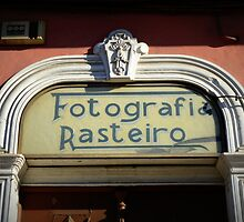 Old photographic studios sign, Coimbra  by juliedawnfox