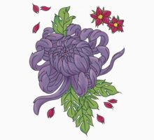 Purple Peony Tattoo Flower Sticker by aghaynes
