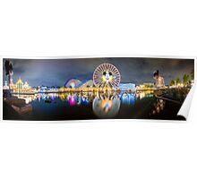 Disneyland World of Colors Panoramic photo Poster