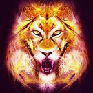 Leo - Zodiac Lightburst - Greeting Card by ifourdezign