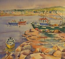 Greystones harbour by Maire Morrissey-Cummins