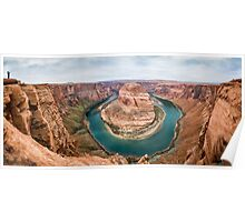 Horseshoe Bend Panorama shot Poster