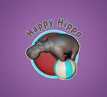 Happy Hippo Tumbler by crouchingpixel