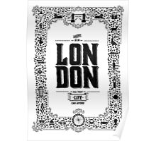 London decorative border illustrated print Poster