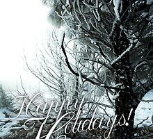 Happy Holidays - Winter Snow by Jerome Obille