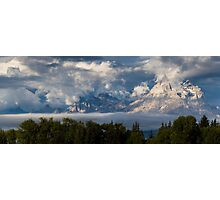 Foggy Weather on the Tetons Photographic Print