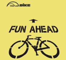 Cycling T Shirt - Fun Ahead by ProAmBike