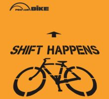 Cycling T Shirt - Shift Happens by ProAmBike