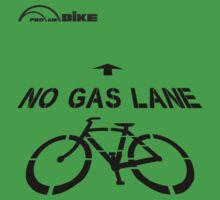 Cycling T Shirt - No Gas Lane by ProAmBike