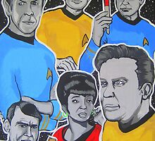 Star Trek the original series crew  by gjniles