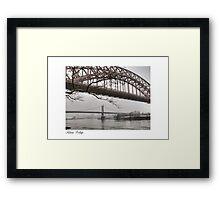 Astoria Bridges Framed Print