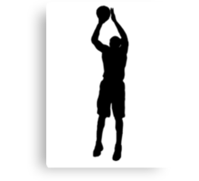 Basketball Shooter Silhouette Canvas Print