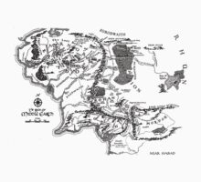 Map of Middle Earth (Black) by matshefield