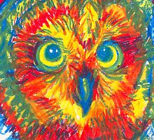 primary color owl by Ashley Peppenger