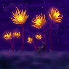 Fire flowers by Petra van Berkum