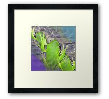 The Real Frogger Framed Print