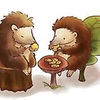 Hedgehog tea party by Petra van Berkum