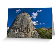 Bell Shape Mountain Greeting Card