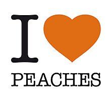 I ♥ PEACHES Photographic Print